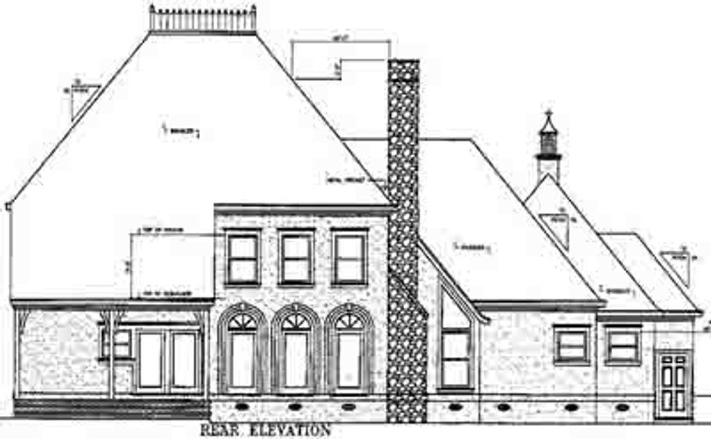 European style house plan 4 beds 4 5 baths 3096 sq ft for Square feet ap style