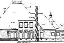 Home Plan - European Exterior - Rear Elevation Plan #45-160