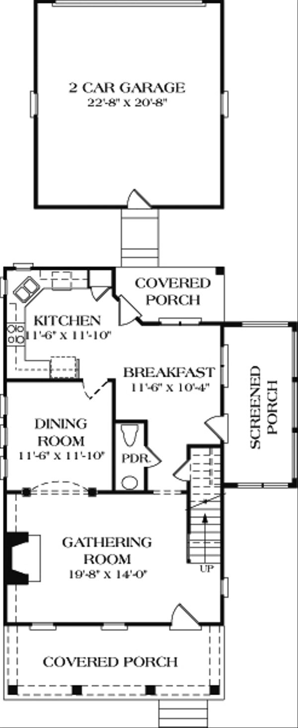 House Design - Farmhouse Floor Plan - Main Floor Plan #453-2