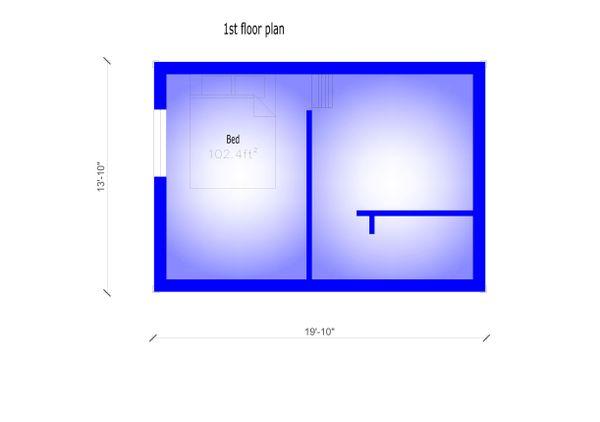 Modern Floor Plan - Upper Floor Plan Plan #549-23