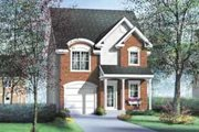 European Style House Plan - 2 Beds 1.5 Baths 1344 Sq/Ft Plan #25-2277 Exterior - Front Elevation