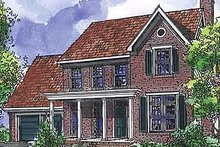 Country Exterior - Front Elevation Plan #320-474