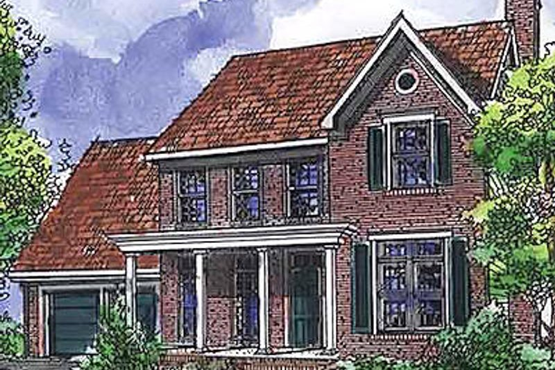 Country Exterior - Front Elevation Plan #320-474 - Houseplans.com