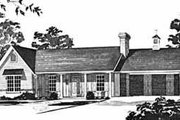 Traditional Style House Plan - 3 Beds 2 Baths 1375 Sq/Ft Plan #36-365 Exterior - Front Elevation