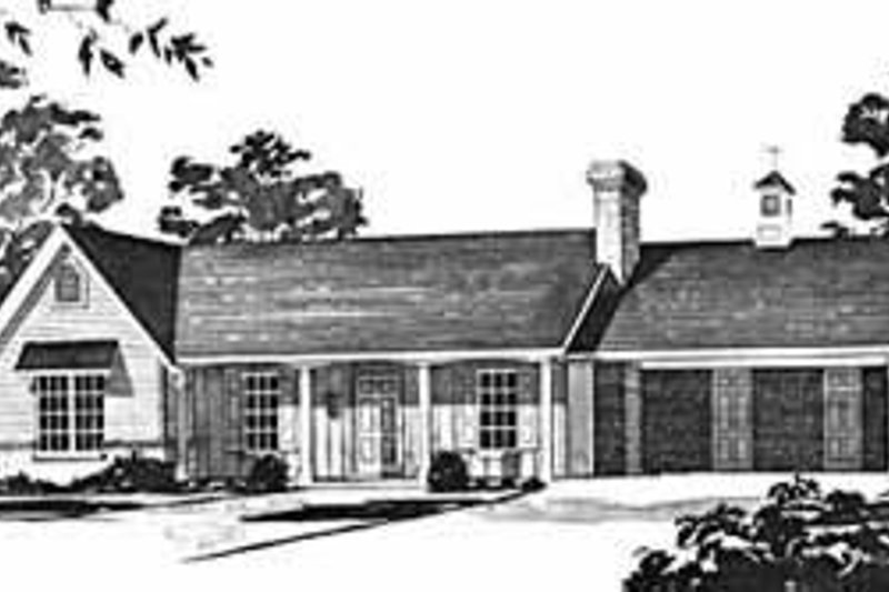 House Design - Traditional Exterior - Front Elevation Plan #36-365