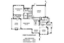 Mediterranean Floor Plan - Main Floor Plan Plan #1058-147