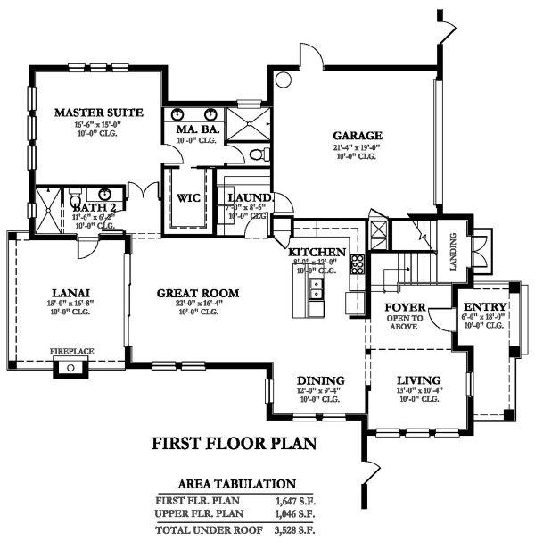 Dream House Plan - Mediterranean Floor Plan - Main Floor Plan #1058-147