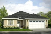 Traditional Style House Plan - 3 Beds 2 Baths 1497 Sq/Ft Plan #124-1027 Exterior - Front Elevation