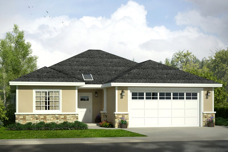 Traditional Style House Plan - 3 Beds 2 Baths 1497 Sq/Ft Plan #124-1027