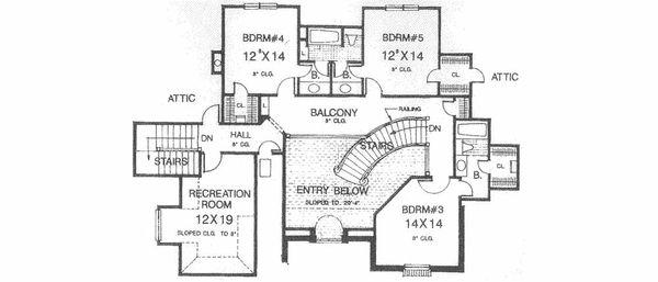 European Floor Plan - Upper Floor Plan #310-516