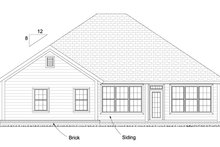 Dream House Plan - Traditional Exterior - Rear Elevation Plan #513-2080
