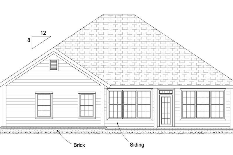 Traditional Exterior - Rear Elevation Plan #513-2080 - Houseplans.com