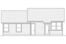 Ranch Exterior - Rear Elevation Plan #84-472