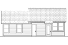 Home Plan - Ranch Exterior - Rear Elevation Plan #84-472