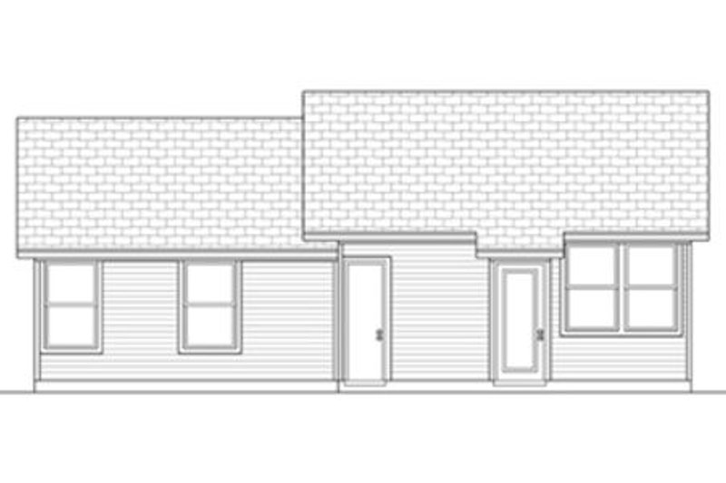 Ranch Exterior - Rear Elevation Plan #84-472 - Houseplans.com