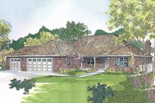 Home Plan - Traditional Exterior - Front Elevation Plan #124-424