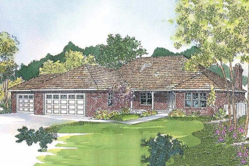 Dream House Plan - Traditional Exterior - Front Elevation Plan #124-424