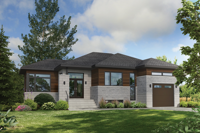 Home Plan - Contemporary Exterior - Front Elevation Plan #25-4900