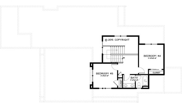 Craftsman Floor Plan - Upper Floor Plan Plan #895-45
