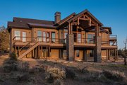 Ranch Style House Plan - 3 Beds 3.5 Baths 2830 Sq/Ft Plan #895-29 Exterior - Rear Elevation