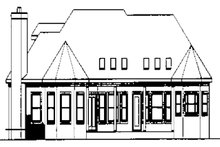 Dream House Plan - Traditional Exterior - Rear Elevation Plan #56-541