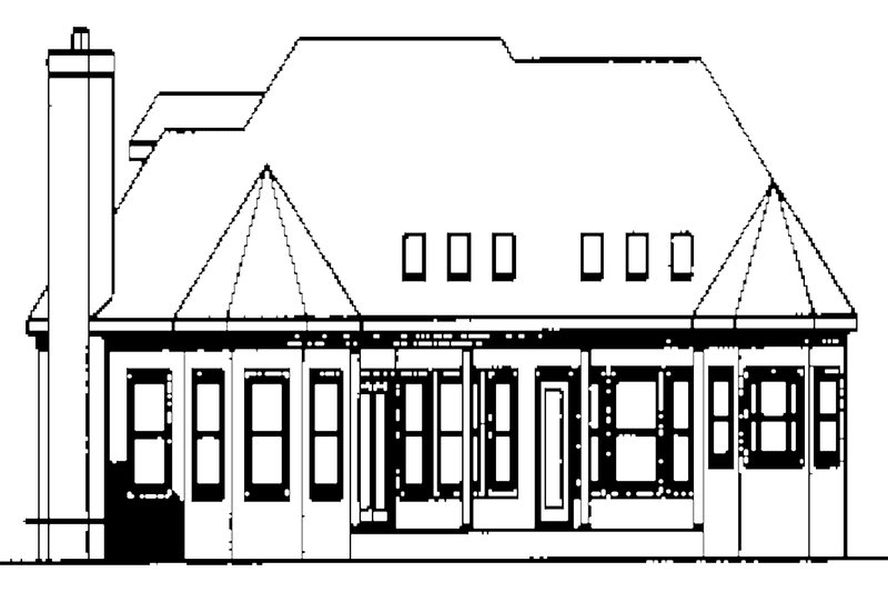 Traditional Exterior - Rear Elevation Plan #56-541 - Houseplans.com