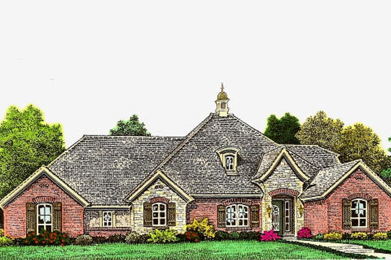 European Exterior - Front Elevation Plan #310-976
