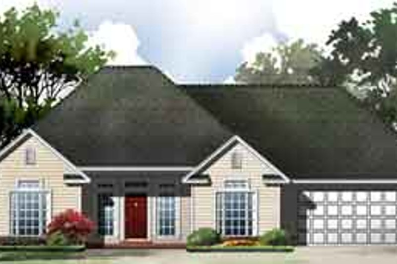 European Exterior - Front Elevation Plan #21-171 - Houseplans.com