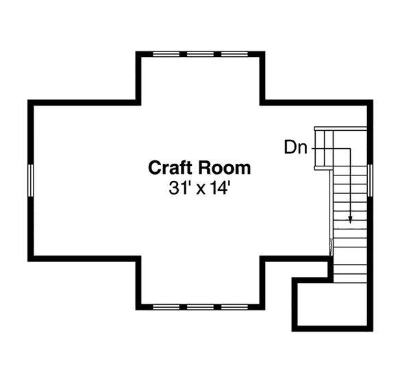 Home Plan - Craftsman Floor Plan - Upper Floor Plan #124-800