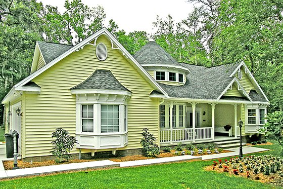 Country Exterior - Front Elevation Plan #456-1