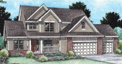 Traditional Exterior - Front Elevation Plan #20-1762 - Houseplans.com