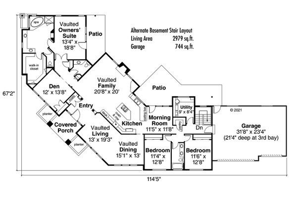Modern Floor Plan - Other Floor Plan #124-281