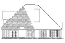Craftsman Exterior - Rear Elevation Plan #17-2160