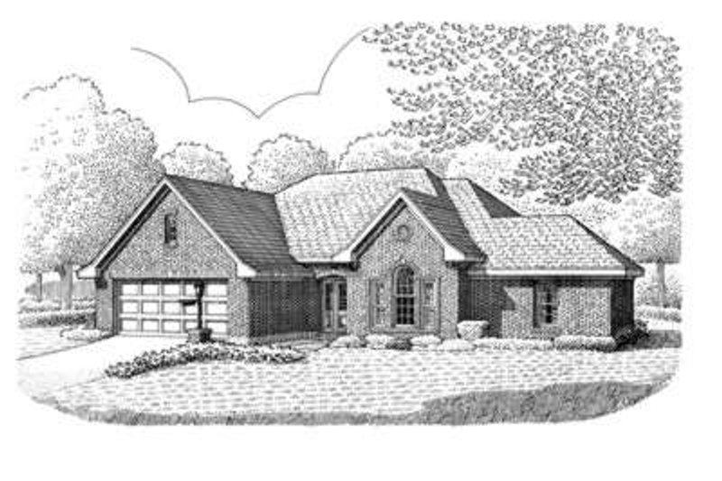 European Exterior - Front Elevation Plan #410-301