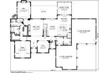 European Floor Plan - Main Floor Plan Plan #70-1151