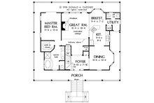 Country Floor Plan - Main Floor Plan Plan #929-37