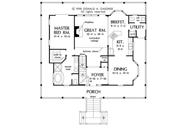 Country Floor Plan - Main Floor Plan Plan #929-37
