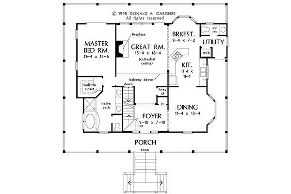 Architectural House Design - Country Floor Plan - Main Floor Plan #929-37
