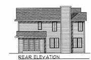 Traditional Style House Plan - 3 Beds 2.5 Baths 1786 Sq/Ft Plan #70-200 Exterior - Rear Elevation