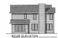 Traditional Exterior - Rear Elevation Plan #70-200