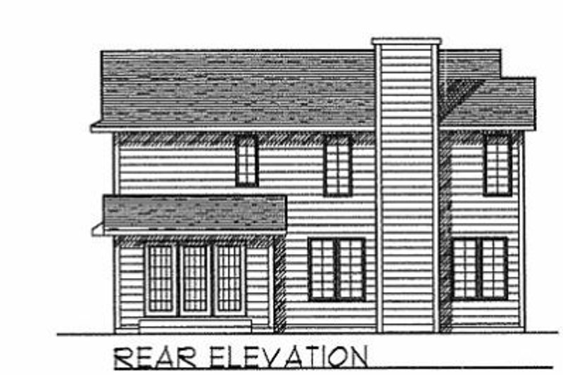 Traditional Exterior - Rear Elevation Plan #70-200 - Houseplans.com