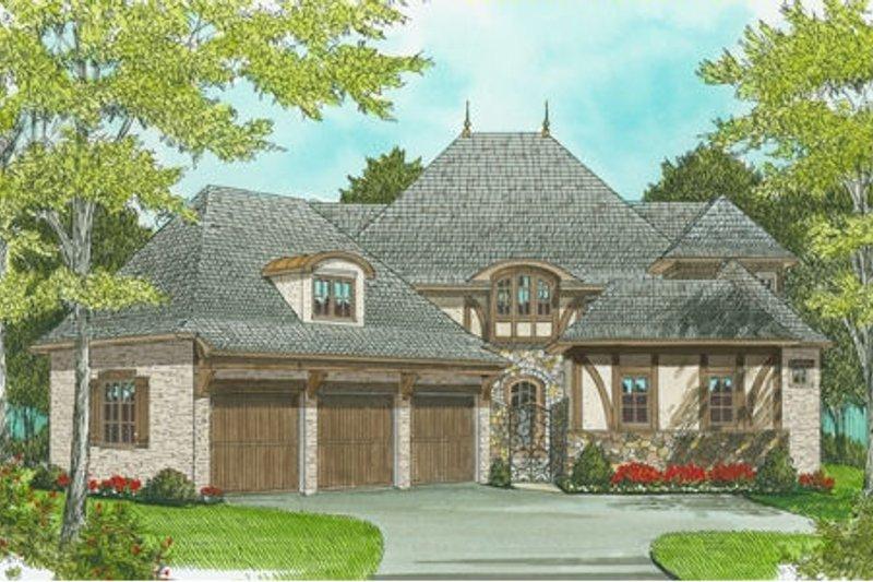 Architectural House Design - European Exterior - Front Elevation Plan #413-819
