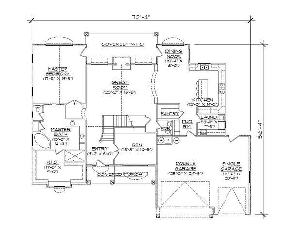 European Floor Plan - Main Floor Plan Plan #5-395