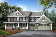 Farmhouse Style House Plan - 4 Beds 2.5 Baths 2700 Sq/Ft Plan #132-119 Exterior - Other Elevation