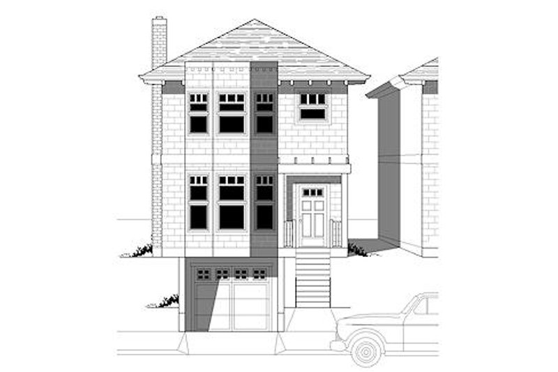 Traditional Style House Plan - 3 Beds 2.5 Baths 1606 Sq/Ft Plan #423-31 Exterior - Front Elevation