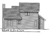 Traditional Style House Plan - 3 Beds 2.5 Baths 1406 Sq/Ft Plan #70-112 Exterior - Rear Elevation