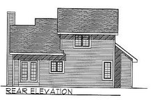 Dream House Plan - Traditional Exterior - Rear Elevation Plan #70-112