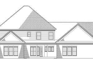 Colonial Exterior - Rear Elevation Plan #17-1182