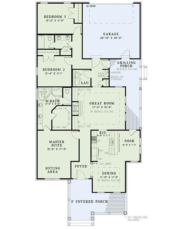 Home Plan Design - European Floor Plan - Main Floor Plan #17-2409