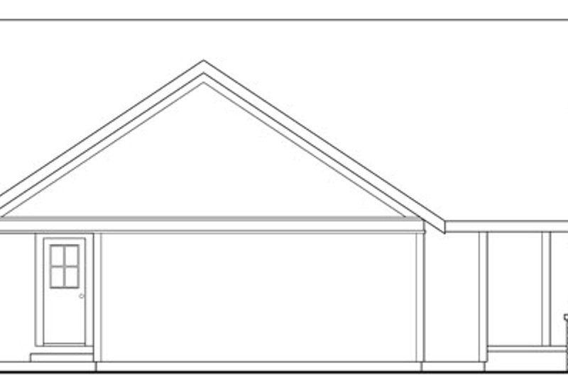 Traditional Exterior - Other Elevation Plan #124-398 - Houseplans.com